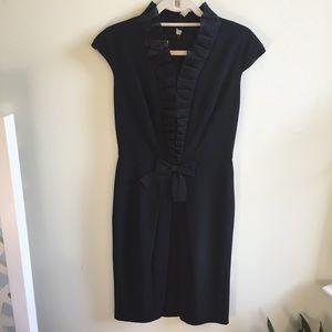 Kay Unger NY Hepburn black silk Cocktail dress S 6